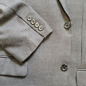 Izod Suits & Blazers - Size 40R charcoal/black hound tooth sport coat